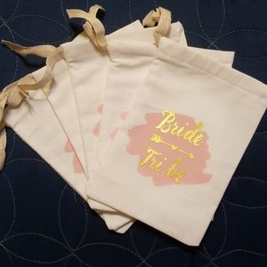 Other - Set of 5 Bride Tribe Favor Bags